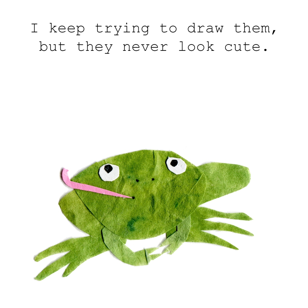 I keep trying to draw them, but they never look cute.