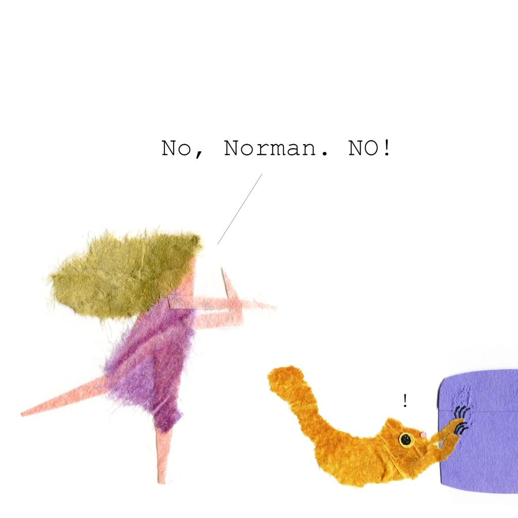 Norman pauses. I say: No, Norman. No!